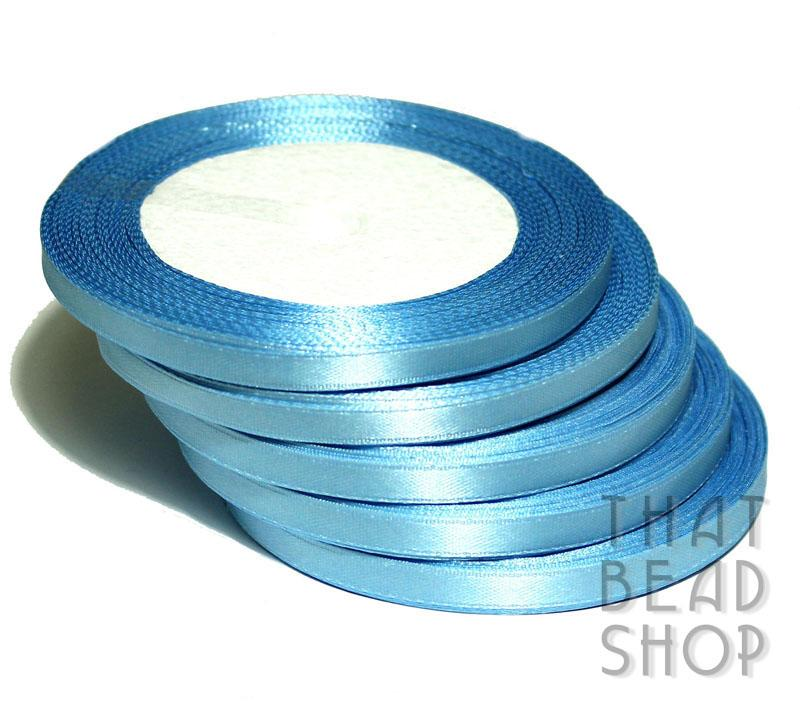6mm Satin Ribbon - Light Blue